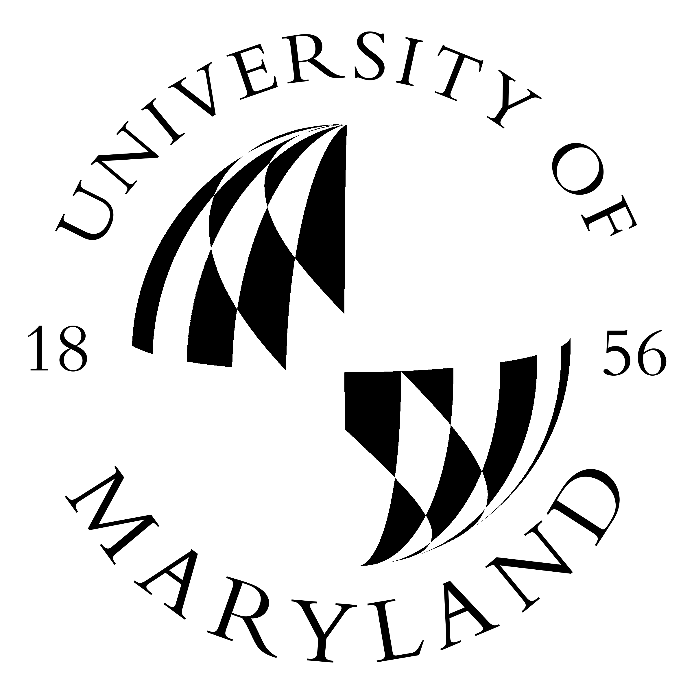 Maryland vector black and white. University of logo png