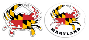 Maryland vector flag md. Crab decals flags hats