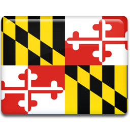 Maryland vector icon. American states set by