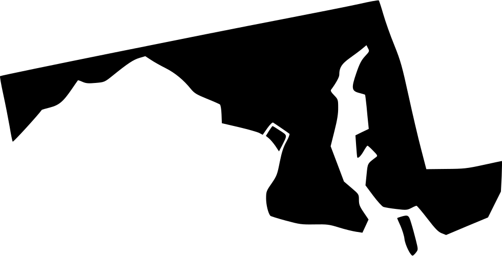 Maryland vector silhouette. Svg png icon free