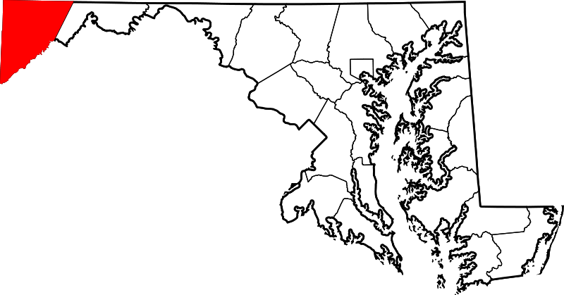 Maryland vector simple. File map of highlighting