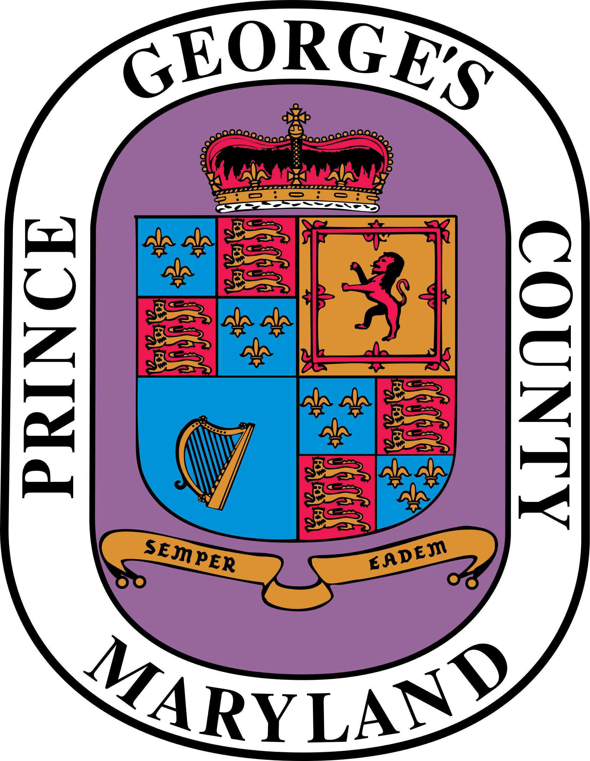 Maryland vector simple. File seal of prince