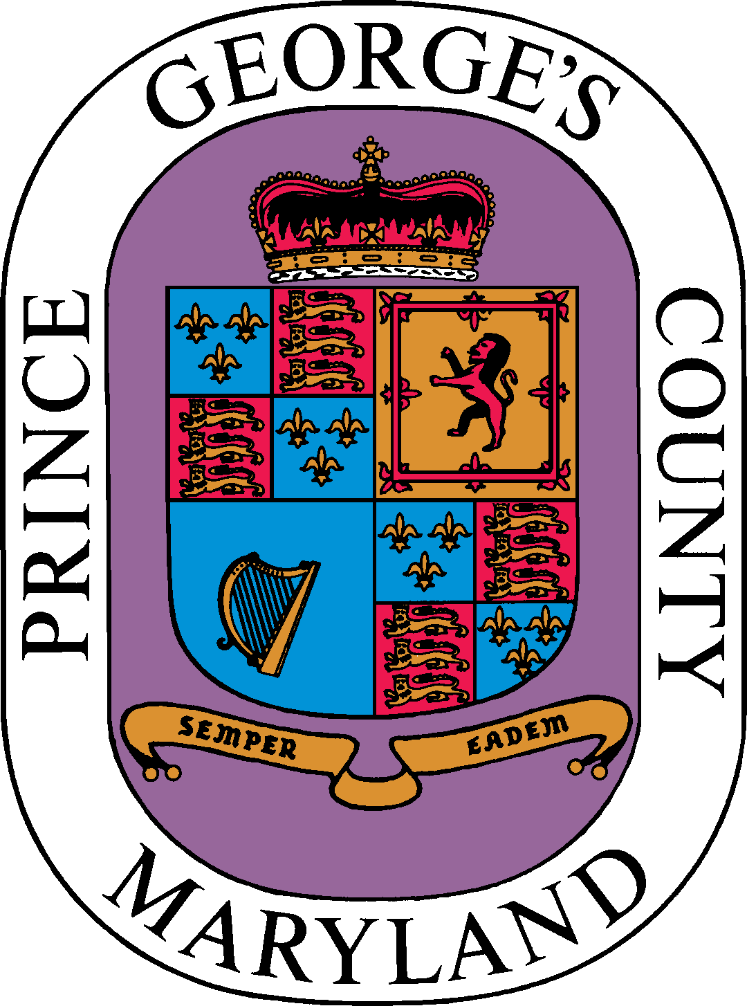 Maryland vector svg. File seal of prince