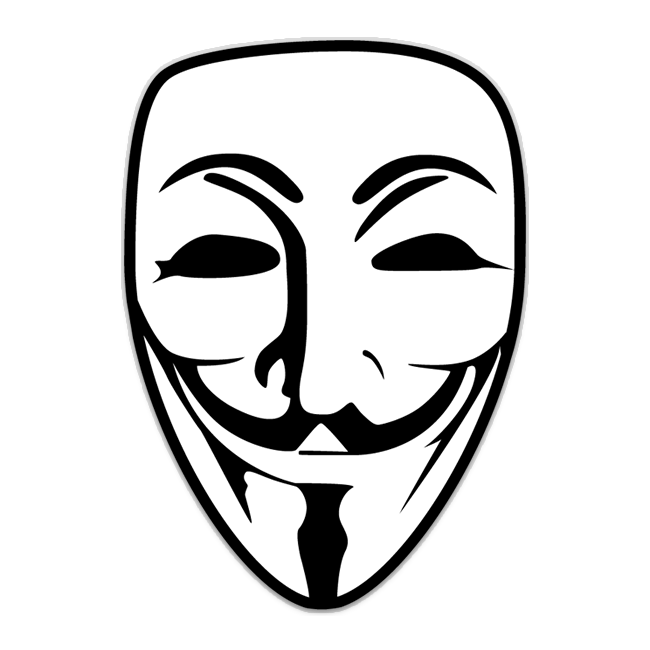 Anonymous mask at getdrawings. V drawing clip art freeuse library
