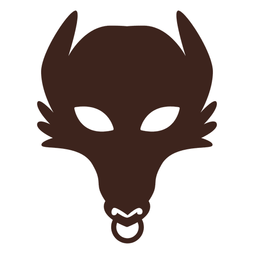 Vector knight mask. Wolf silhouette transparent png