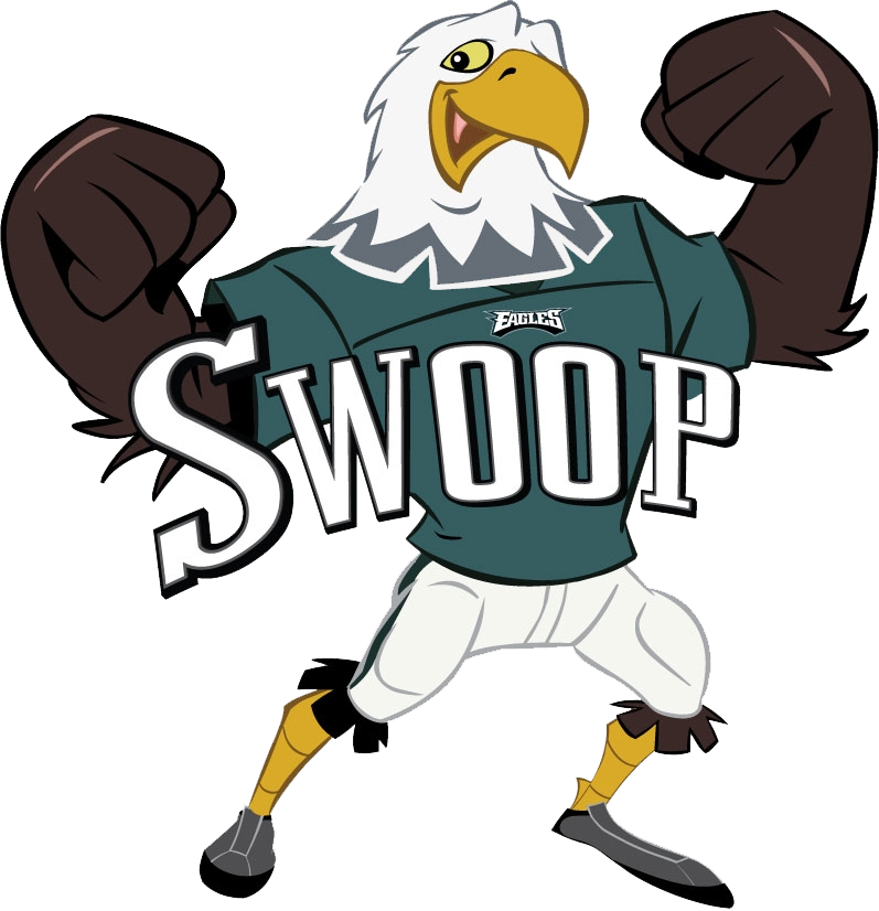 Mascot drawing bird. Philadelphia eagles her sports