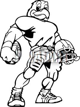 Mascot drawing clip art. Hawk football clipart