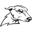 Mascot drawing greyhound. Collection of clipart