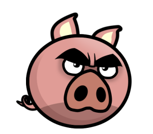 Angry mascot piges of. Evil pig png svg free stock