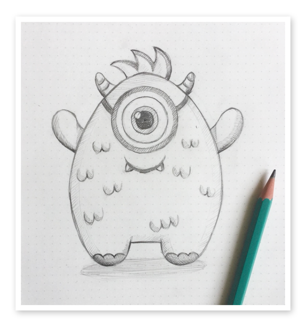 Mascot drawing sketch. How to create a