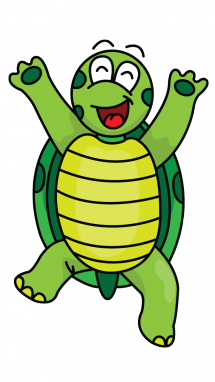 Mascot drawing turtle. How to draw a