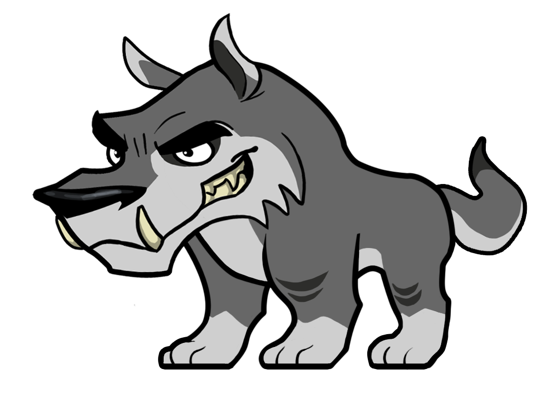 Mascot drawing wolf. The design gallery logos