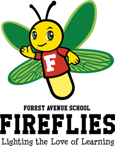 Mascot vector. Forest avenue school firefly