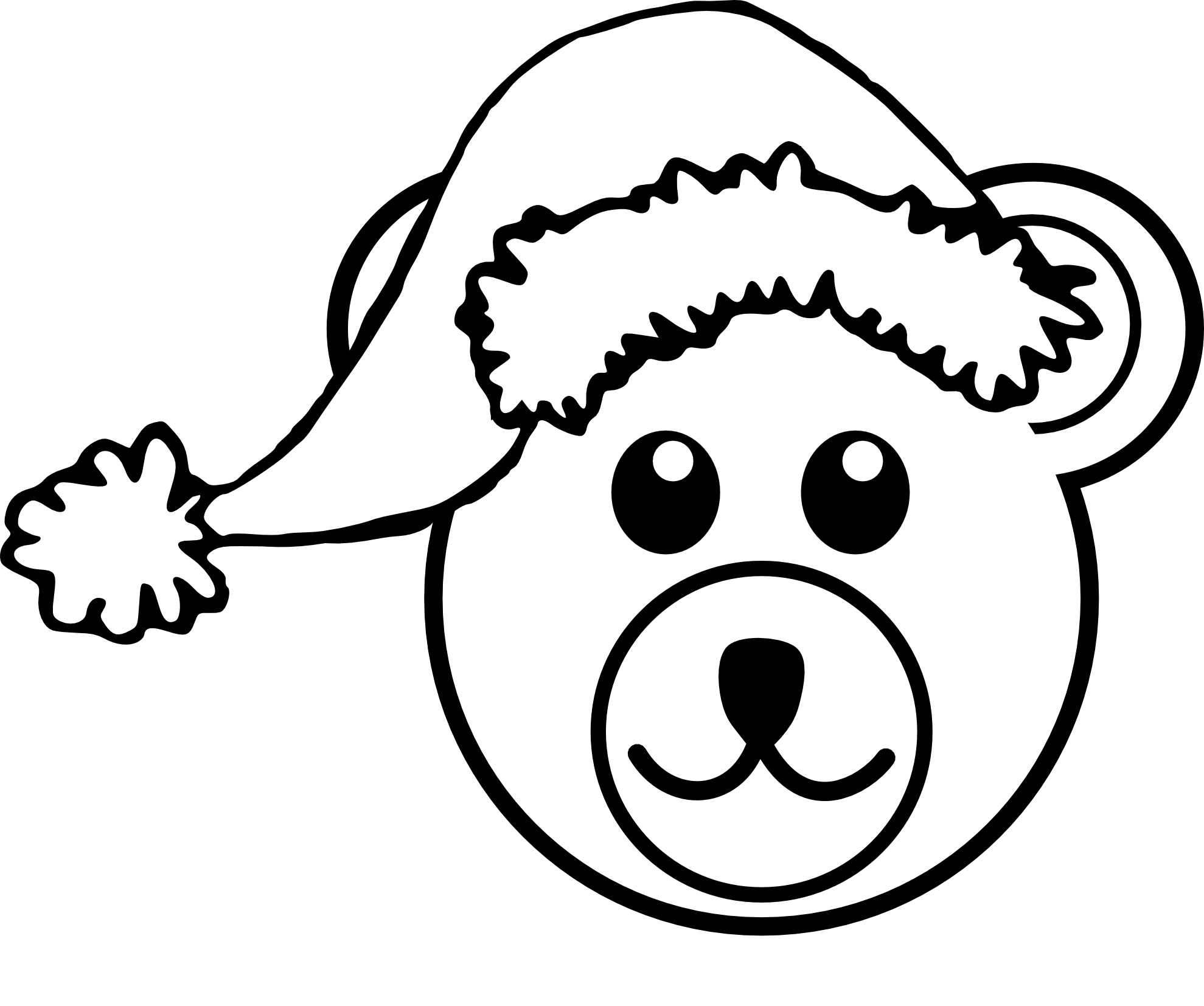 Mascot vector black and white. Cartoon clipart of a