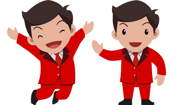 Mascot vector business. Free businessman packages creator