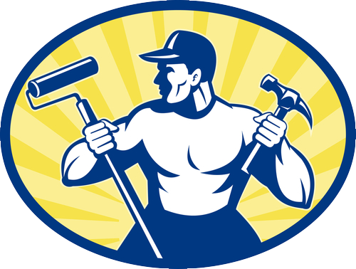 Carpenter vector handyman. Logo x png s