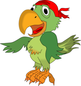 Drawing pirates pirate parrot. Clip art piggy bank