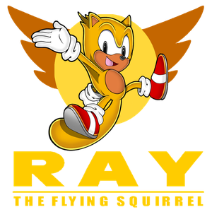 Vector squirrel flying. Character database ray the