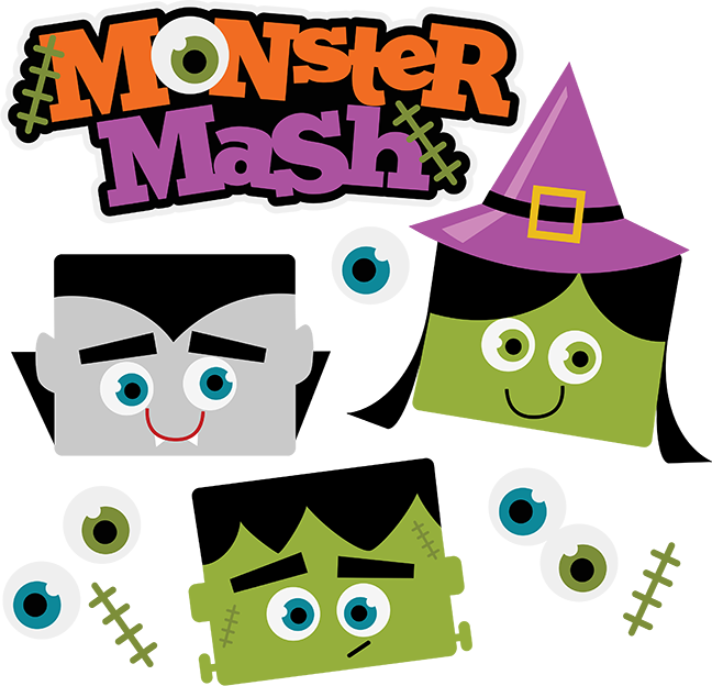 Mash clip monster. Collection of halloween
