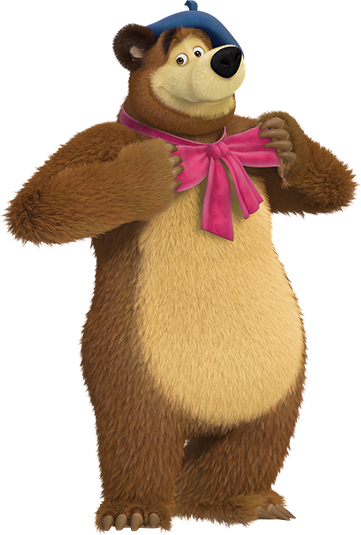 Projects letras pinterest bears. Masha and the bear png graphic free download