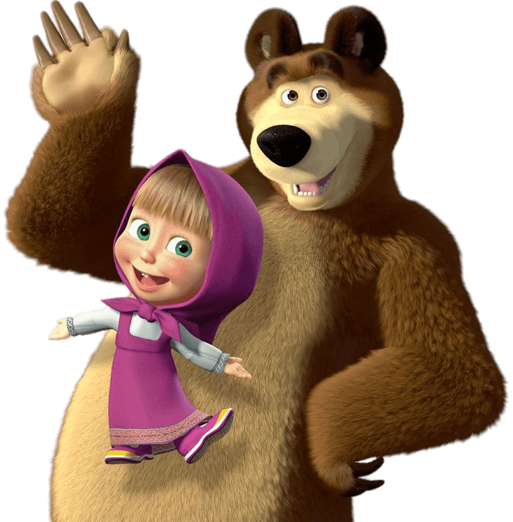 Saying hi transparent stickpng. Masha and the bear png picture freeuse