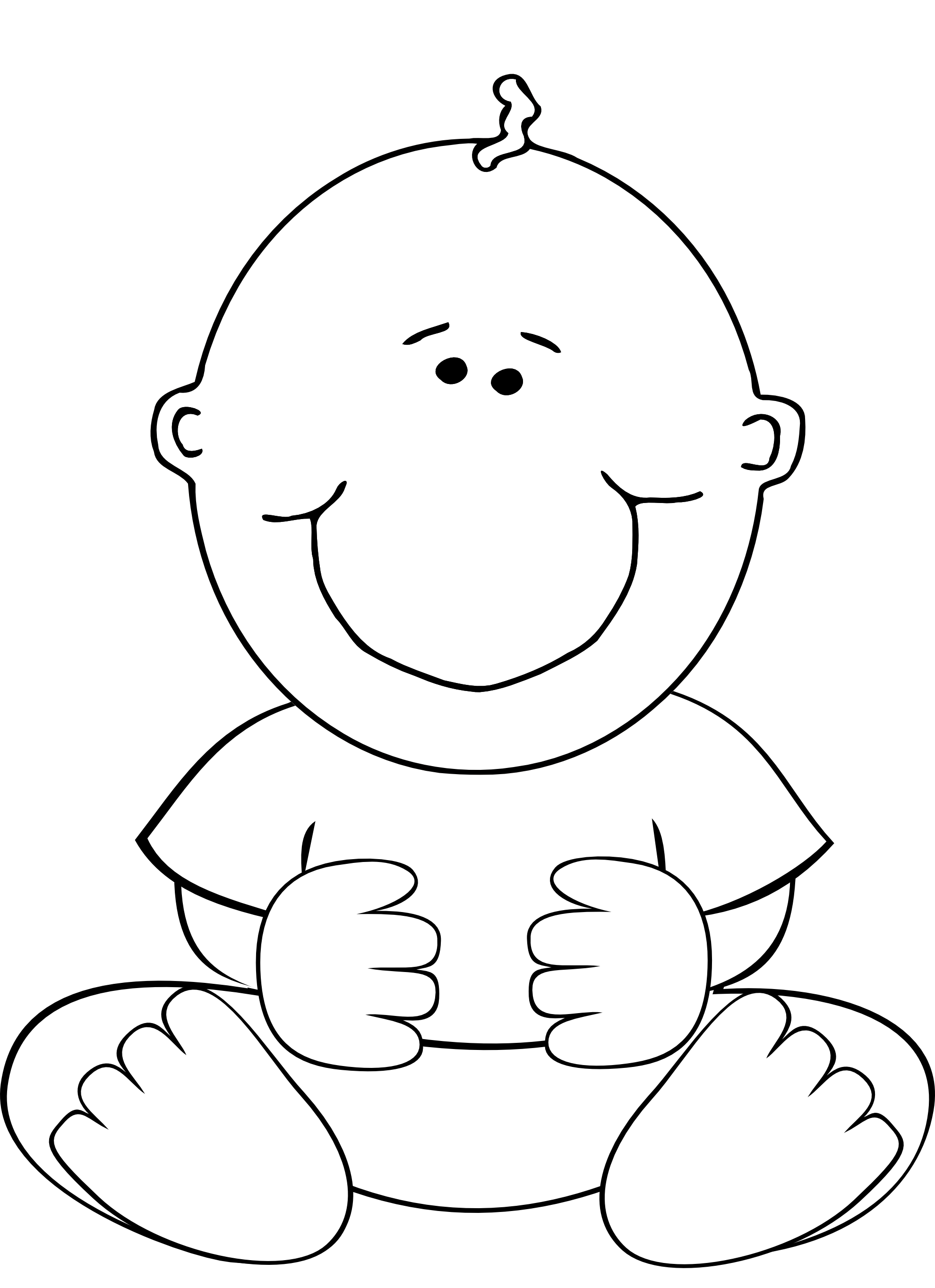 Mashed clipart black and white. Free babies cliparts download