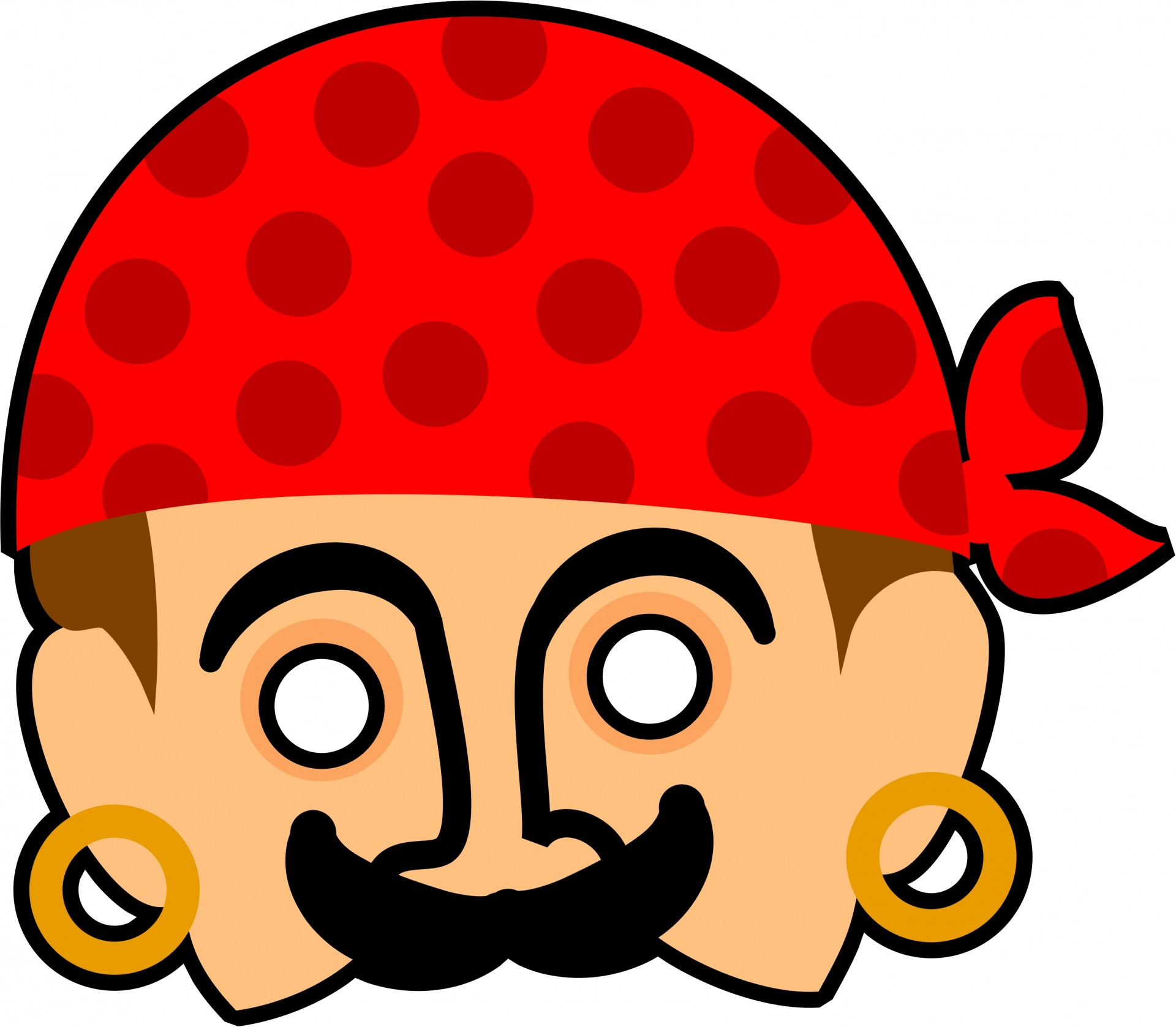 Mask clipart. Kids pirate free stock