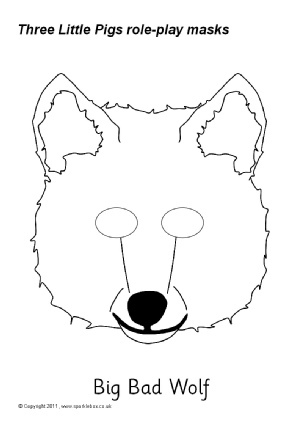 Three little pigs teaching. Mask clipart big bad wolf banner freeuse library