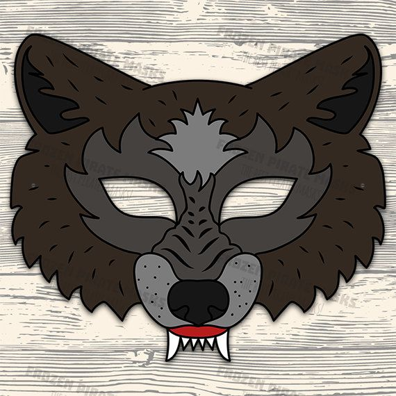 Mask clipart big bad wolf. Three little pigs role