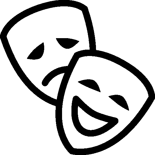 Theatre icon ios iconset. Mask clipart cinema vector freeuse library