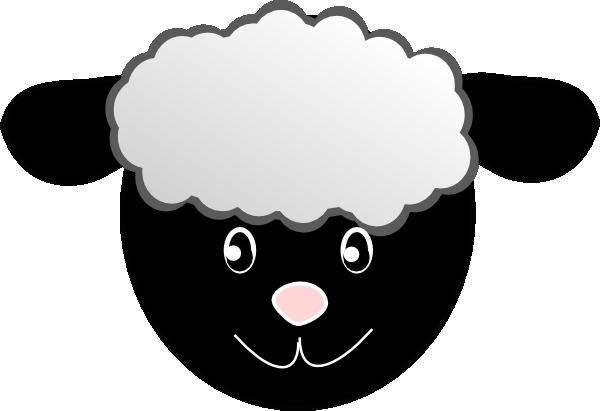 Sheep face template invitation. Mask clipart lamb png