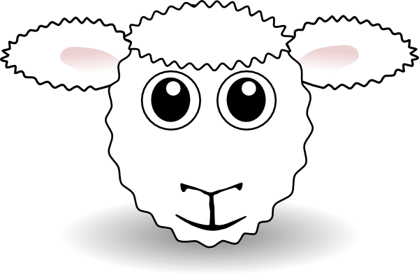 Sheep face clip art. Mask clipart lamb image black and white download