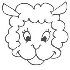 Mask clipart lamb. Print out smiling good