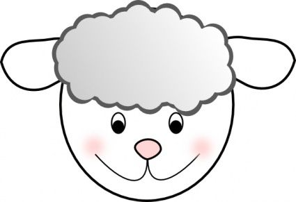 Face clip art panda. Mask clipart lamb vector transparent library