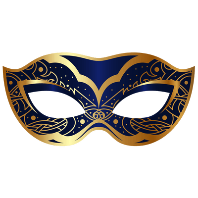Mask clipart masquerade. Gold carnival transparent png