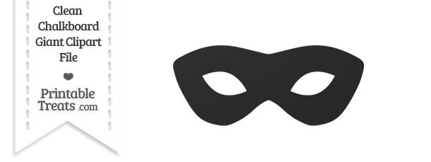 Mask clipart masquerade. Clean chalkboard giant printable