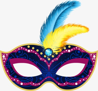 Mask clipart masquerade. Exquisite dance colorful masks