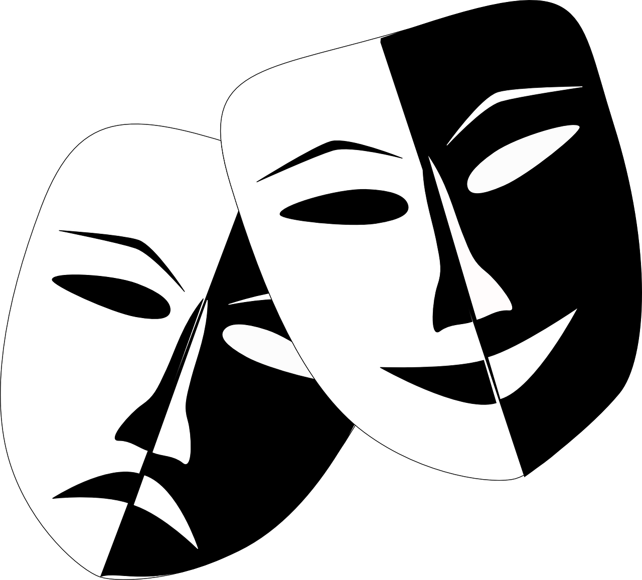 Mask clipart mood disorder. Designing and creating clothing