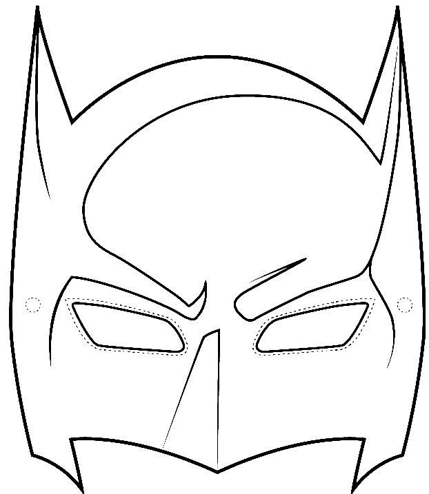 Mask clipart sample. Batman template wikihow best