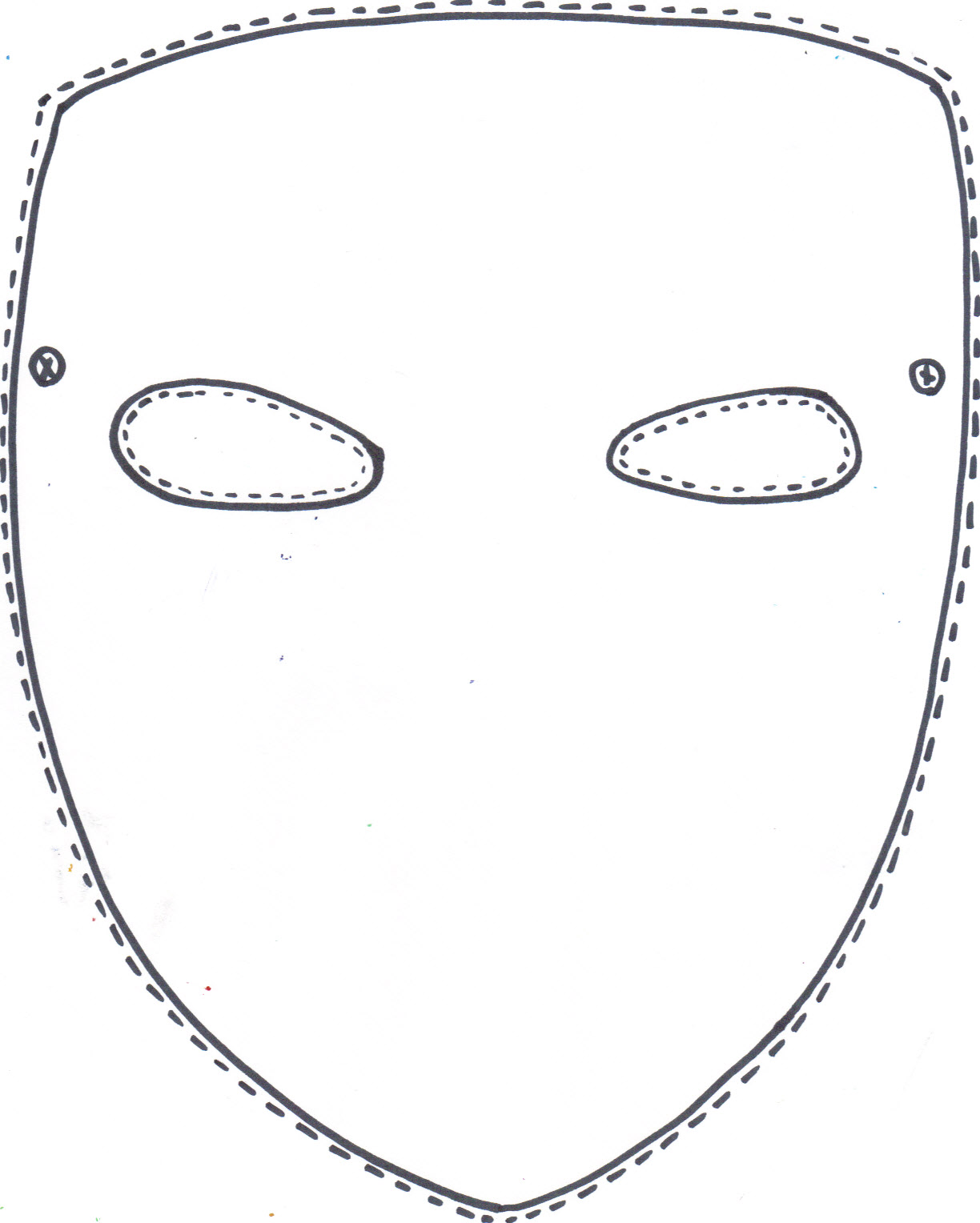 Mask clipart sample. Full face template davoodi