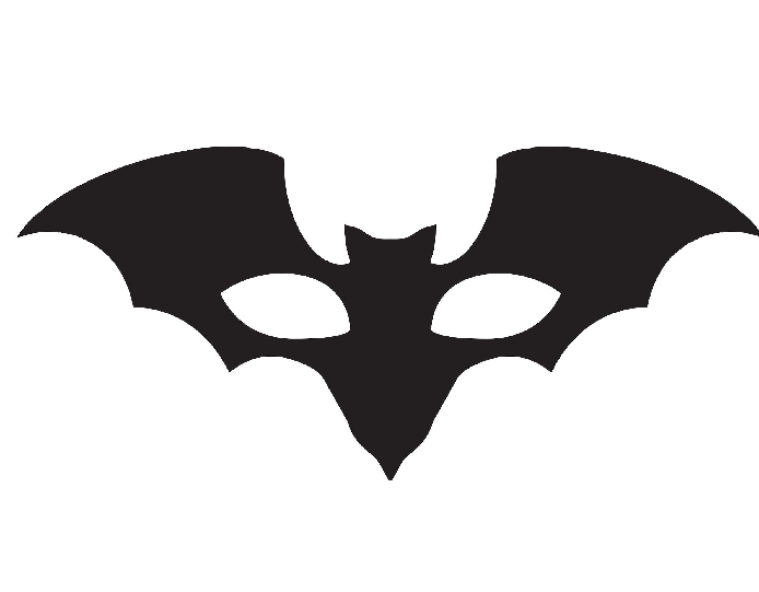 Batman template wikihow. Mask clipart sample banner black and white stock