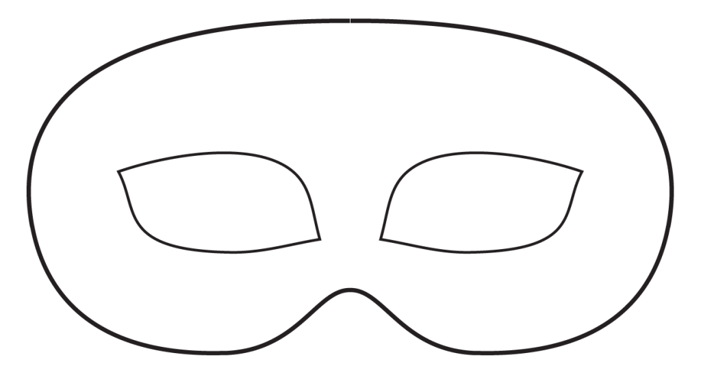Mask clipart sample. Face template beneficialholdings info