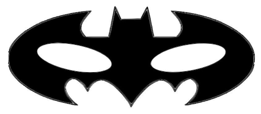 Mask clipart sample. Free batman template download