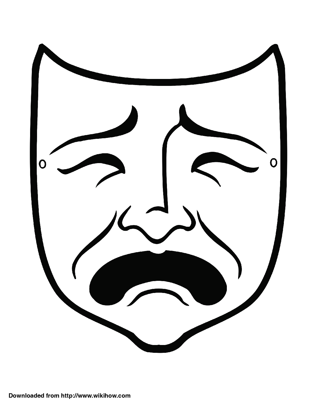 Mask clipart sample. Tragedy wikihow