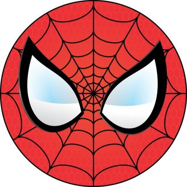 Spiderman face logo wall. Mask clipart spider man jpg royalty free library