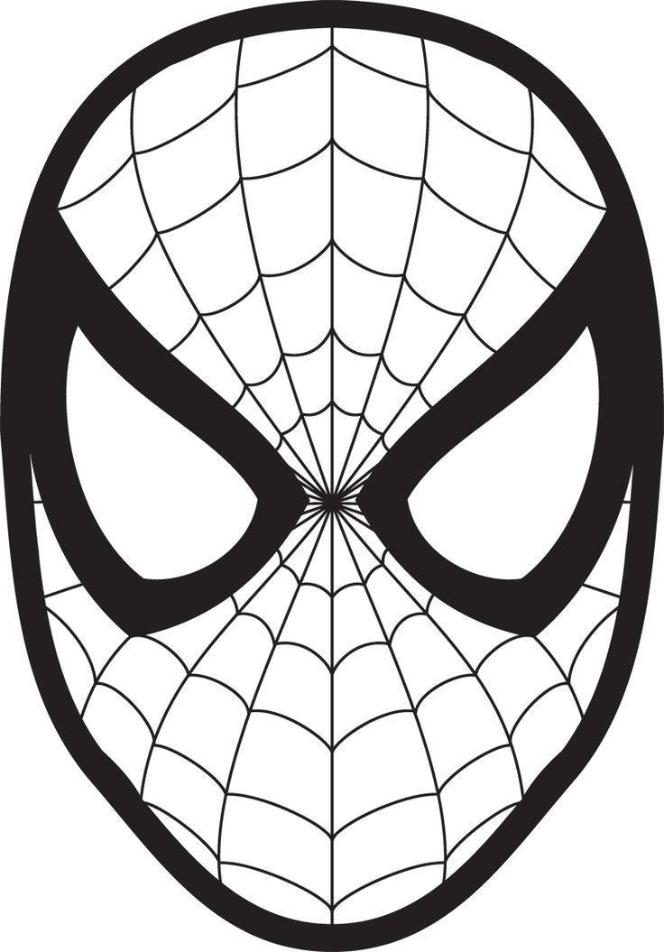 Spiderman face logo wall. Mask clipart spider man graphic transparent library