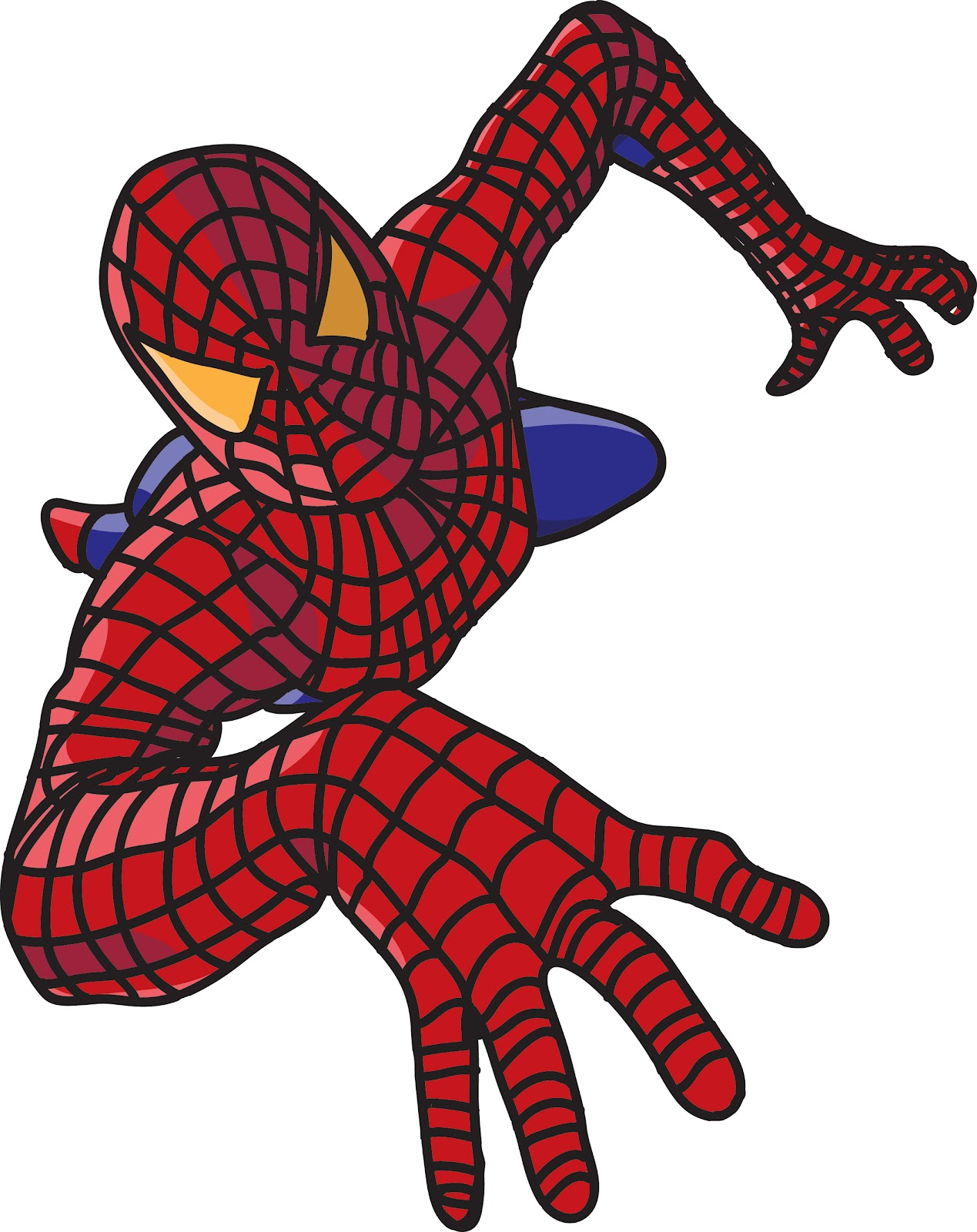 Free spiderman face template. Mask clipart spider man black and white library