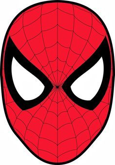 Spiderman face logo wall. Mask clipart spider man vector black and white library