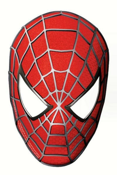 Mask clipart spider man. Spiderman face template cliparts