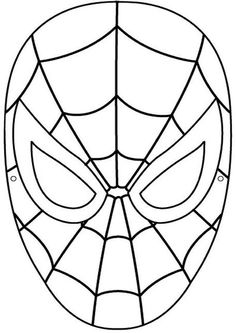 Mask clipart spider man. Spiderman face drawing at